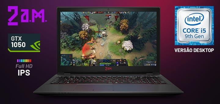 Notebook 2 A.M utiliza chip de desktop e traz desempenho de PC gamer